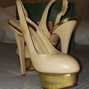 Charolette Olympia platform heels nude